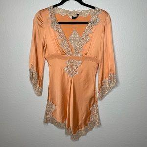 Bebe Silk & Lace Top 🧡